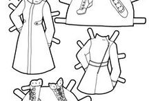 Black and White Paper Dolls / Paper dolls in black and white for coloring. Some of these are printable paper dolls. A lot of these are my favorite pen and ink artists. People I'd like to learn from.