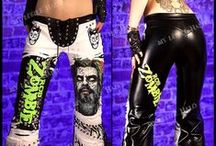 Rock/heavy metal clothing-for sale now / Follow to see the latest one of a kind rock & heavy metal clothing I've made, including studded trousers, leggings, jackets and tops. These are currently for sale and only one of each!