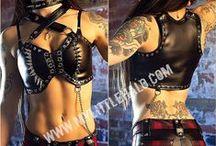 Crop Tops, Corset Tops & Bras / Fitted rock chick corset tops, studded vest tops, crop tops & heavy metal bras