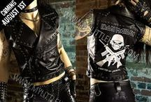 Metal Fashion -Coming August 1st / Latest collection of rock & heavy metal fashion from My Little Halo, including studded leather jackets, lace up leggings, studded leather pants, corsets & tops. All items are one of a kind. Collection due for release: August 1st 2016 (7pm UK time) from http://mylittlehalo.com/metal-clothing-collection
