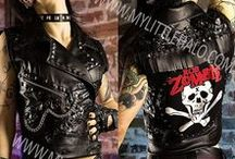 Metal Clothing Collection-September 2016 / One of a kind rock & heavy metal clothing collection from My Little Halo. Including studded leggings, lace up pants, crop tops, leather corsets, hot pants & studded leather jackets. Released on September 1st 7pm (uk time) from http://mylittlehalo.com/metal-clothing-collection