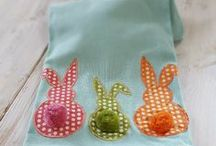Easter Made at Home / Easter crafts, kids crafts, fabric, DIY, Easter quilts