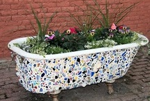 Repurposed Containers / I love the idea of repurposing old items for gardening containers. You can make a container out of just about anything!