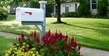 Mailbox Mini Gardens / A great way to increase curb appeal and a quick weekend project is to create a mini mailbox garden