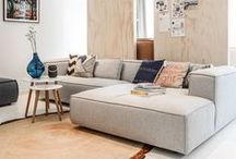 My | Home style / COLORS: white, light grey, pastels | MATERIALS: concrete, (light) wood, rope, leather, linen | KEYWORDS: cosy, industrial/loft, scandinavian