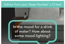 Sleep Number® x12 bed / Introducing the Sleep Number® x12 bed with SleepIQ™ technology: Integrates four technologies to create one simple platform that comprehensively tracks and monitors your sleep; shows what support and comfort adjustments you can make by adjusting your Sleep Number setting; helps you decide what changes to make to your daily routine; and empowers you to make those adjustments to achieve your best sleep. Snore? It even has an adjustment for that!  / by Sleep Number