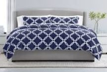 Navy Bedroom Inspiration / The hottest trend in colors this season is navy! We're seeing navy everywhere…from the red carpet to your home carpet. Our new Sleep Number Smart Classics bedding makes adding color to your bedroom easier than ever. Follow this board for inspiration on how to add navy to your bedroom!  / by Sleep Number