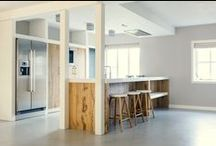 My | Kitchen style / COLORS/MATERIALS: White, wood, concrete | KEYWORDS: industrial & modern
