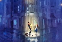 """""""Begin at the beginning. Tell Gregory a story..."""" / """"Stories are light. Light is precious in a world so dark. Begin at the beginning. Tell Gregory a story. Make some light."""" - Kate DiCamillo, The Tale of Despereaux  Inspiration for lighting design"""