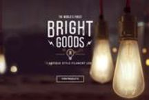 Bright Goods Products / Bright Goods LED Filament-style antique lamps. All products available from: www.brightgoods.co.uk