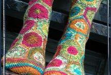 KNITTED SOCKS & GLOVES | Inspiration of colourful Artist Anne van den Heuvel | / | Inspiration of colourful Artist Anne van den Heuvel |