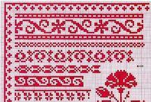 Borders cross stitch /Randjes kruissteek / by Janny van Haren/tenHaaf