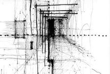 conceptual / conceptual architecture drawings, collages, photos, designs...etc