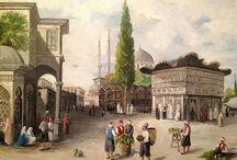 Osmanlı tabloları / Rapido kalem