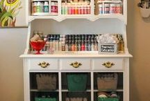 Storage Ideas / A smaller space doesn't mean you have less stuff, it just means you have to be creative when it comes to storage!