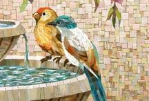 Mosaics / Mosaics are a beautiful and interesting handmade craft.  Sometimes the materials used are from vintage products being repurposed.