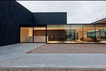 Architecture / minimal / brutal / concrete / glass / wood / by Elizabeth Bodoano