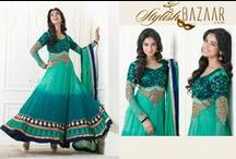 stylishbazaar / Buy Woman's Indian wear Online – Boutique's bridal Anarkali salwar-kameez Chudidar-kurta Bollywood-saree Purchase Female's fashion designer dress materials ,Latest trends Clothes, formal style suits, good-looking ethnic outfits , wedding new-look clothing Patterns, casual tops, fancy kurtis @ Cheapest, Retail Shopping stores cash-on-delivery, shopper's pick-n-pay