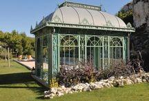 JARDIN-Serres jardin d hiver treillage Celosia-Invernadero -Conservatory / by Jean François Denizot Borbòn Dos Sicilias Conde  de Aquila