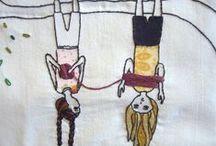 Neuloen ja virkaten - Knitted and crocheted / Ideas