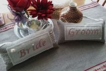Hand embroidered plaques / Hand embroidered plaques ideal for weddings or for the home
