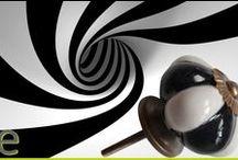 Pomelli per mobili...... in Bianco e Nero! / Pomelli in ceramica indiana dipinta a mano. I pomelli per mobili misurano 3,5 cm di diametro, la minuteria metallica è anticata. Tutti i nostri pomelli su  http://easy-online.it/it/categoria-prodotto/pomelli/