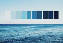 hues of blue / deep like the ocean or calm like the sky, we all need a little blue in our lives