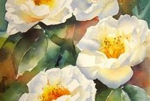 Watercolour, beauty and serenity / Watercolour  and ink paintings  of  people, flowers and landscapes.