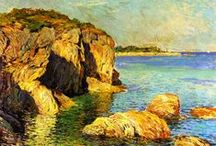 Landscape paintings/ Turner/ Monet/ Van Gough / Landscapes which come to life