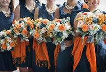 ORANGE & NAVY WEDDING / Inspiration Color Mood Board for Weddings with the Orange & Navy. A lovely collection for brides, bridesmaids, decor, flowers, cakes, event, wedding accessories.
