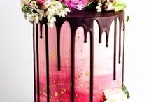 Cakes / Cakes, Wedding, childrens' cakes. Some with edible flowers others with lacework
