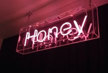 follow the signs / neon signs + clever sayings