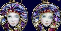 Enameled Jewellery / Enamelled Jewellery by Mona and Alex Szbados