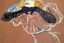 TOULOUSE LAUTREC / French contemporary illustrations and paintings