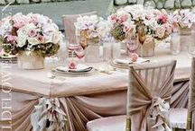 The Tablescape / Nothing sets the mood for a wedding like stunning china, stemware, and an amazing centerpiece.