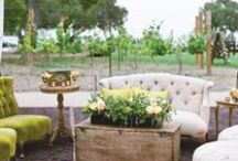 Vineyard Wedding Style / Ah, the golden dreamy light, the landscapes, the rows of vines, and that warm, wonderful Tuscan feel of vineyards. You don't have to travel to Napa Valley for a destination wedding, when you can indulge in the fabulous vineyards on the east end of Long Island.