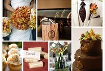 Autumn Wedding Style / Seasonal weddings are always beautiful. With its rich color palette of oranges, golds, and reds, Autumn lends itself well to both rustic and regal weddings.