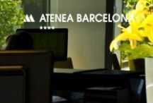 Atenea Barcelona / Right in the heart of finantial, shopping and business activity of Barcelona, this hotel is part of a modern architectonic complex. Enjoy our wide rooms, ideal for long stays and families, or our superior rooms, for special ocasions.