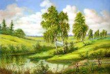Målade Landskap 2