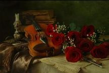 "VIOLINS & ROSES / ""The true mission of the violin is to imitate the accents of the human voice, a noble mission that has earned for the violin the glory of being called the king of instruments""  ― Charles-Auguste de Beriot"