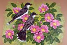 BIRDS and FLOWERS av JOHN SLOAN