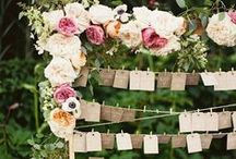 Seating Charts / Organizing where friends and family will sit on your big day can be stressful. But, it doesn't have to be! Here are some great ideas for useful & beautiful wedding seating charts.