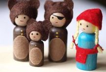 The Amazing World of Wooden Peg People! / We just love Wooden Peg People! We sell a range of them on our website and we're always amazed to see what super fun peg people our crafty friends create!