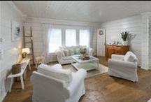 Sisustusideoita mökille. Ideas to our new summer cottage.