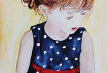 """ Meninas Douradas & Meninos Bronzeados "" / Watercolor"