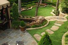 landscaping, back yard / green park