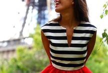 French Chic / Parisian styles I only wish I had in my wardrobe!  (Lots and lots of stripes too!)