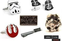 STAR WARS Accessories / Awesome Star Wars Accessories inspired by The Force Returns Star Wars Movie: Great Gift Ideas This Holiday Season | Men's Accessories | Men's Gift Ideas | Gift Ideas For Men | Christmas Gift For Men | Star Wars Cufflinks | Star Wars Fever |    Please allow 2 weeks shipping & handling on Star Wars themed cuff links due to HIGH Demand this time of year! Thank you! :)