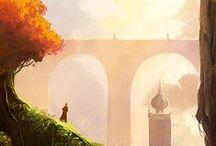 Concept Art / Art/Illustration that creates a world.