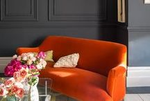 COLOR: ORANGE DECOR IDEAS / An orange decor scheme works perfectly in a dining room or as a statement tone. Fun and flamboyant, cool, with a dash of '70s; it should never be used too seriously or to excess in a bedroom (where, generally speaking, you want to create a feeling of calm). Instead use orange as a transformative color to shift energy towards feeling more warm, positive and inspired.  http://www.thechosenclub.com/home-improvement-orange-home-decor-accessories-ideas